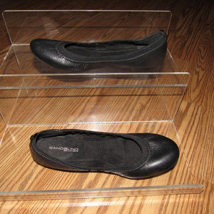 BANDOLINO Edition Black Leather Flats Slip-On 8.5M